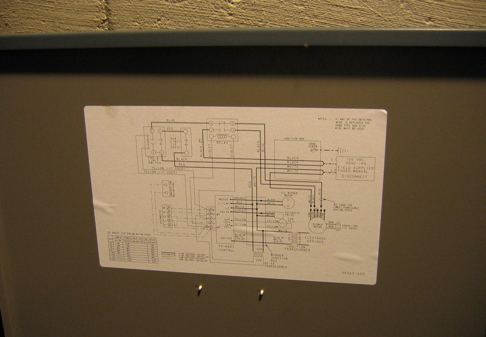 old oil furnace wiring diagram  old  free engine image for