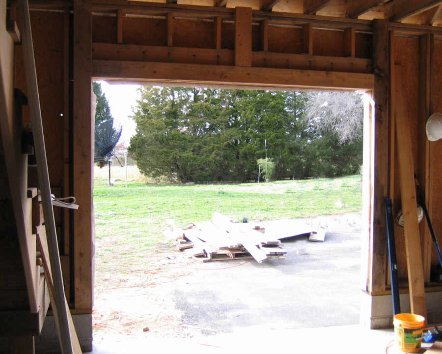 door frame how to frame a garage door opening