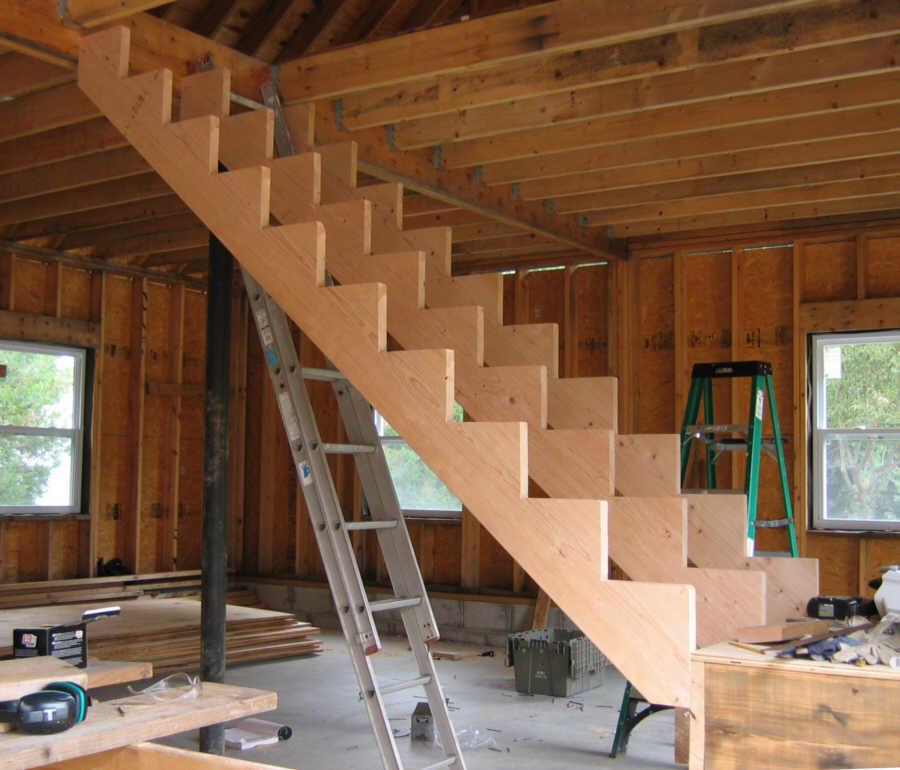 Лестница мансардная своими руками 67