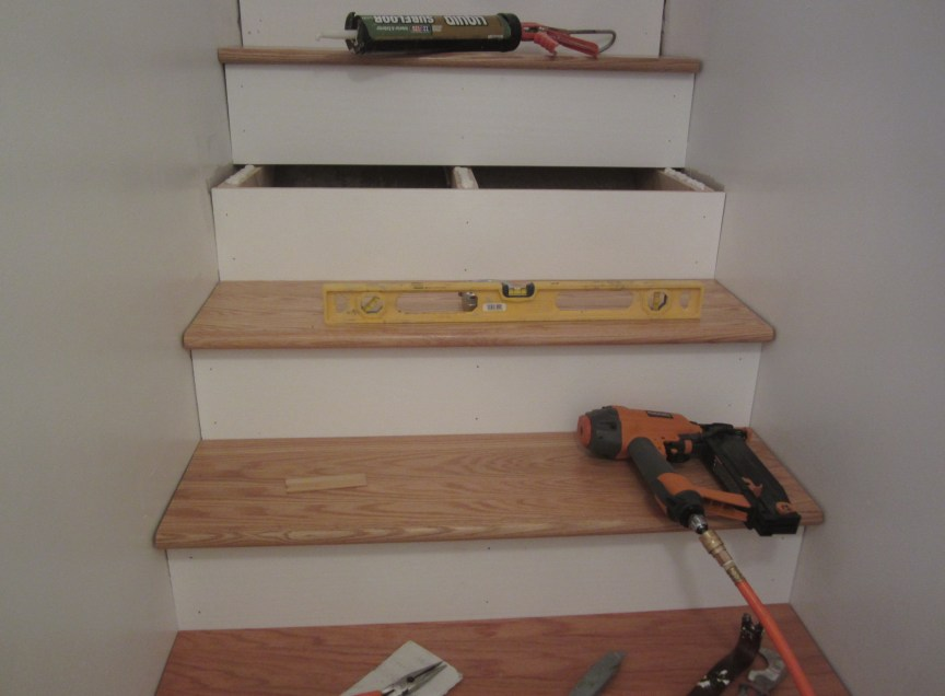 How To Finishing Oak Stair Treads : ... Finishing Oak Stair Treads : June. Oak stair treads ready to finish